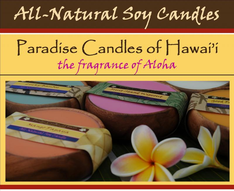 all-natural soy candles paradise candles of hawaii the fragrance of aloha