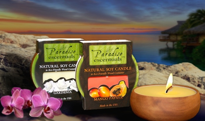 paradise Escentuals Round Bowl Candles